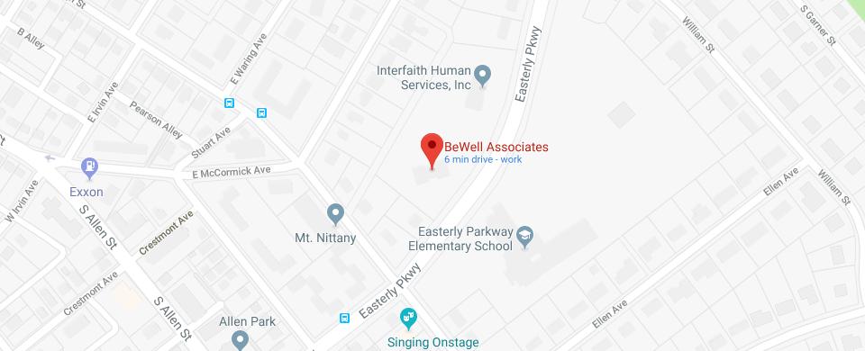 BeWell Associates Map